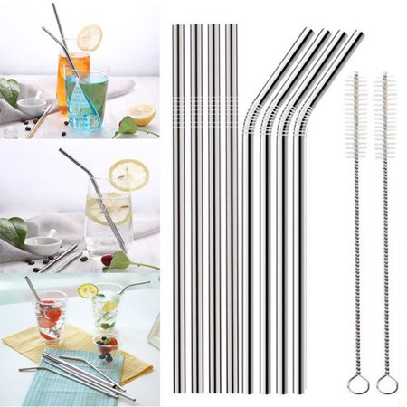 8.5'' Bend Straight LONG Stainless Steel Straws fits 20 oz Ozark Trail Ounce Double-Wall Rambler Vacuum Cups CocoStraw Drinking Straw 12 Ounce Straw