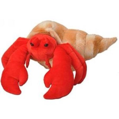 Cuddlekins Hermit Crab Plush Stuffed Animal by Wild Republic, Kid Gifts, Ocean Animals, 12 Inches