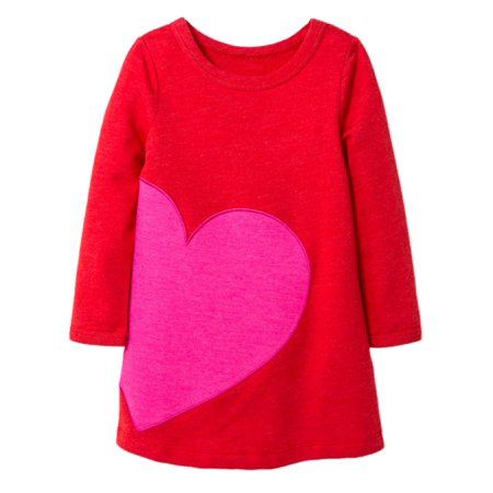 Infant & Toddler Girls Red & Pink Heart Dress Valentines Day Outfit