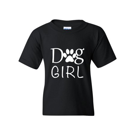 Dog Girl Love Dogs Bark Puppy Paw Match w Pets Dogs Dog Food Toys Gift Unisex Youth Shirts