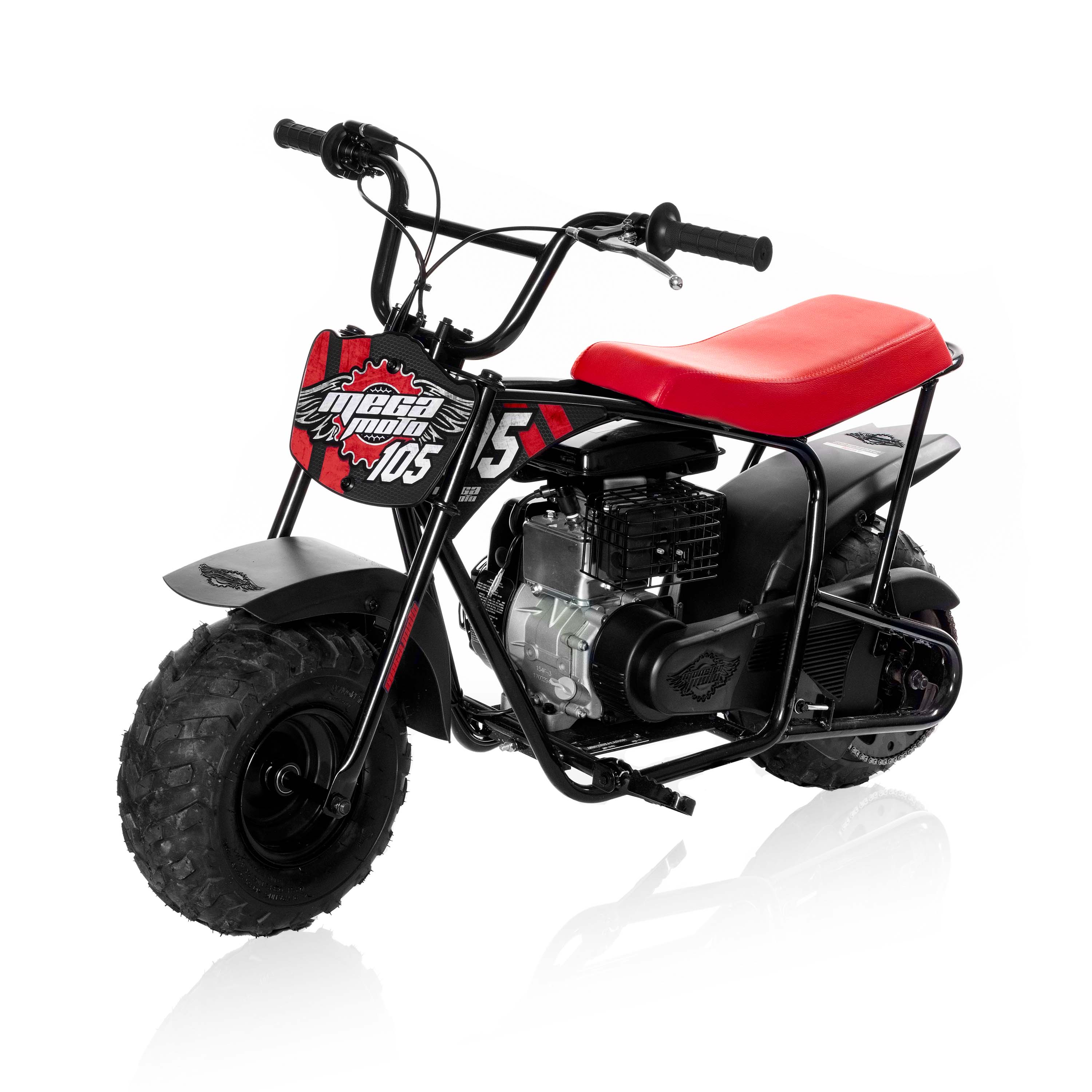 Mega Moto Gas Mini Bike Red & Black 105cc