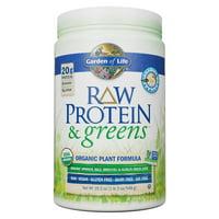 Garden of Life Raw Protein & Greens Powder, Vanilla, 20g Protein, 1.2lb, 19.3oz