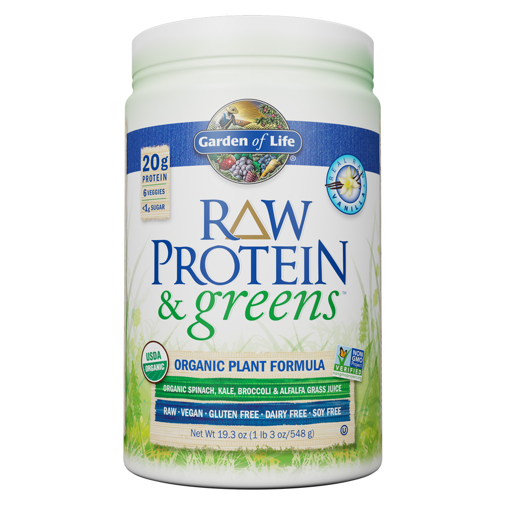 Garden of Life Raw Protein and Greens Vanilla 19.3 oz (1lb 3 oz/548g) Powder