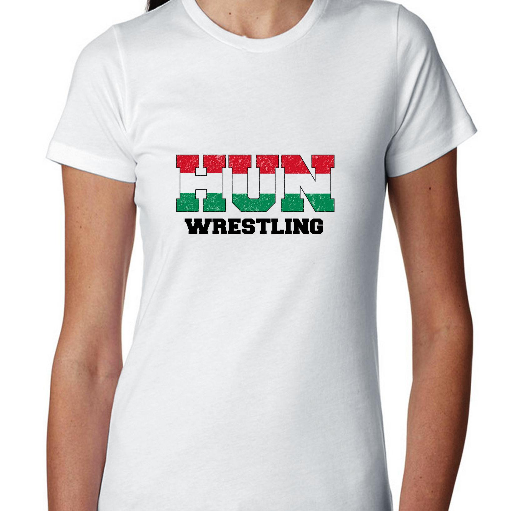 Hungary Wrestling Olympic Games Rio Flag Women's Cotton T-Shirt by Hollywood Thread