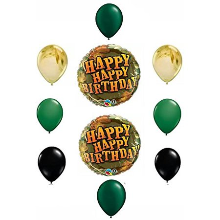 Happy Birthday Camouflage Balloon Decoration by Anagram - Camo Happy Birthday