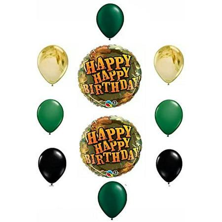 Happy Birthday Camouflage Balloon Decoration by Anagram](Camo Birthday Supplies)