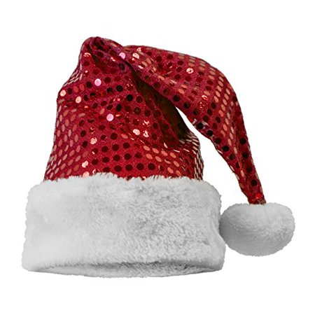 Sequin Santa Hat Red - Red Party Hat