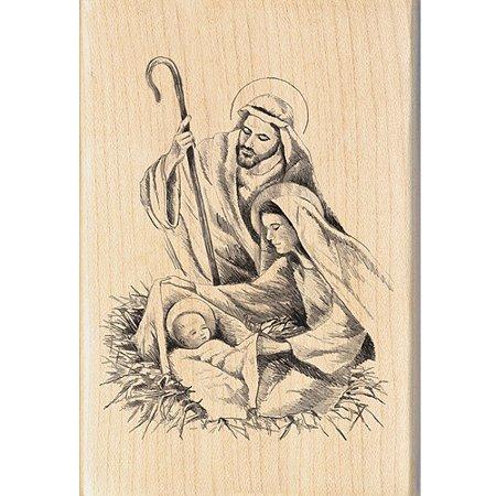 "Inkadinkado Christmas Mounted Rubber Stamp 2.75"" x 4 ..."