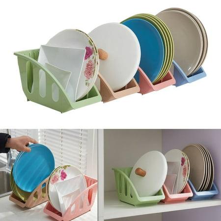 Meigar 1Pcs Compact Plastic Kitchen Dish Plate Drying Sink Rack Organizer Storage Holder Kitchen Shelf Kit for Drying Bowls, Plates
