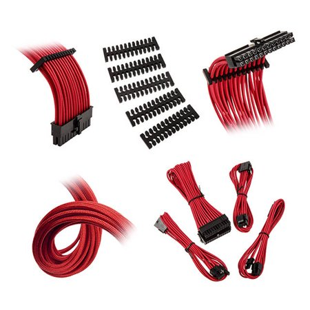 Extension Cable Kit - Bitfenix Alchemy 2.0 Extension Cable Kit - Red (BFX-ALC-EXTRR-RP)
