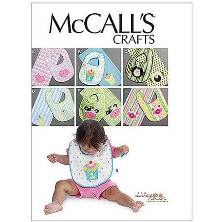 McCall's Pattern Bibs and Burp Cloths, 1 Size - Mccall Halloween Patterns