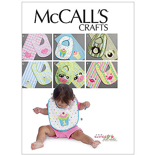 McCall's Pattern Bibs and Burp Cloths, 1 Size Only