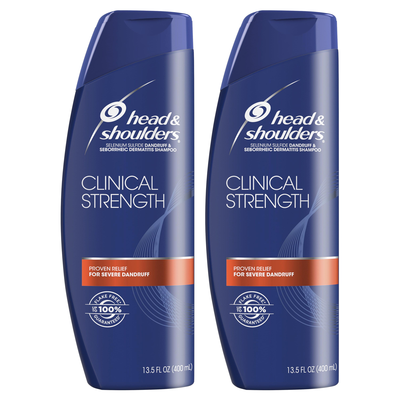 Head and Shoulders Clinical Strength Dandruff and Seborrheic Dermatitis Shampoo, 13.5 fl oz Twin Pack