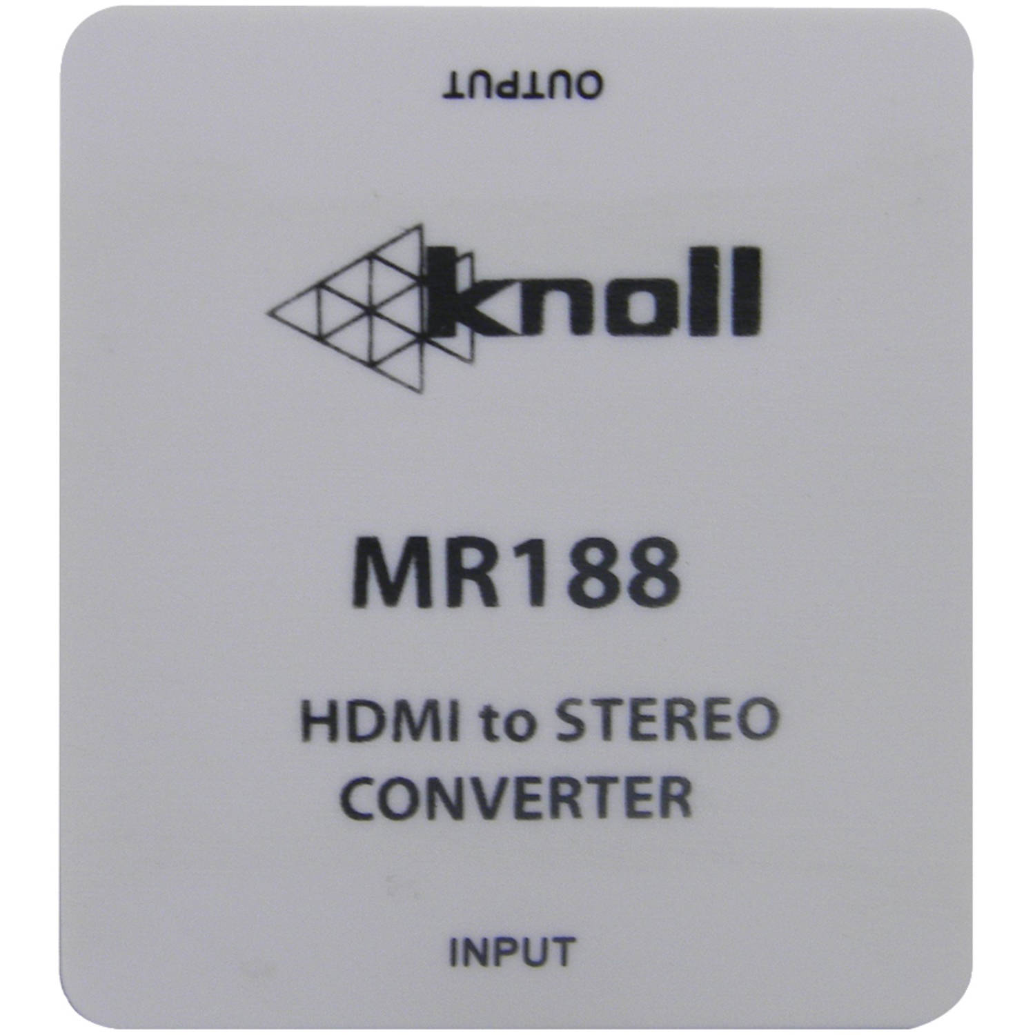 Knoll Systems Mr188 Hdmi To Stereo Line-