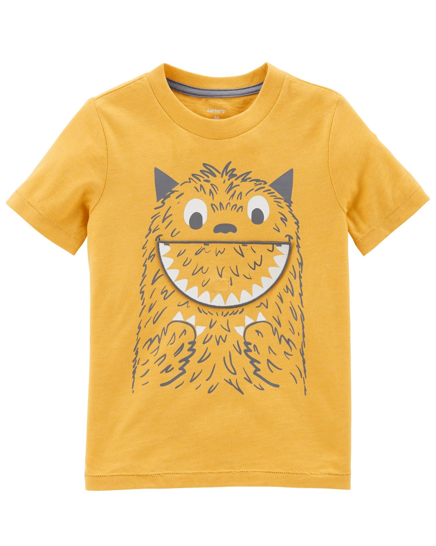 Carter's Little Boys' Monster Peek-A-Boo Tee