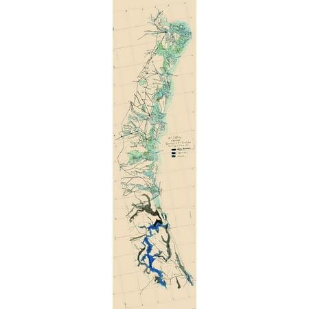 Map Of Georgia And Florida Coast.Civil War Antique Map Print Georgia Florida Coast 1863 23 X 84 71