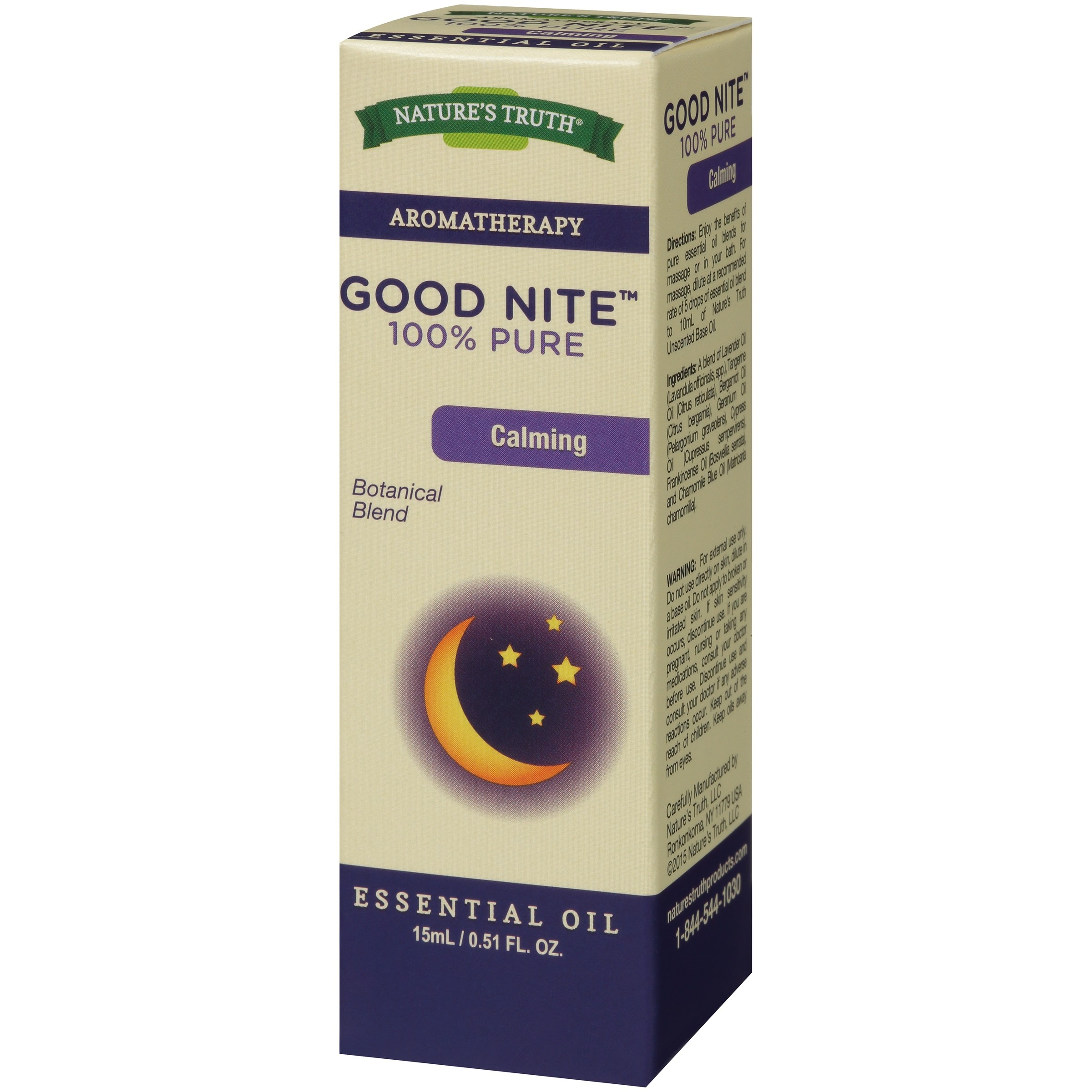 Nature's Truth Aromatherapy Good Nite Essential Oil Blend, 0.51 Fl Oz