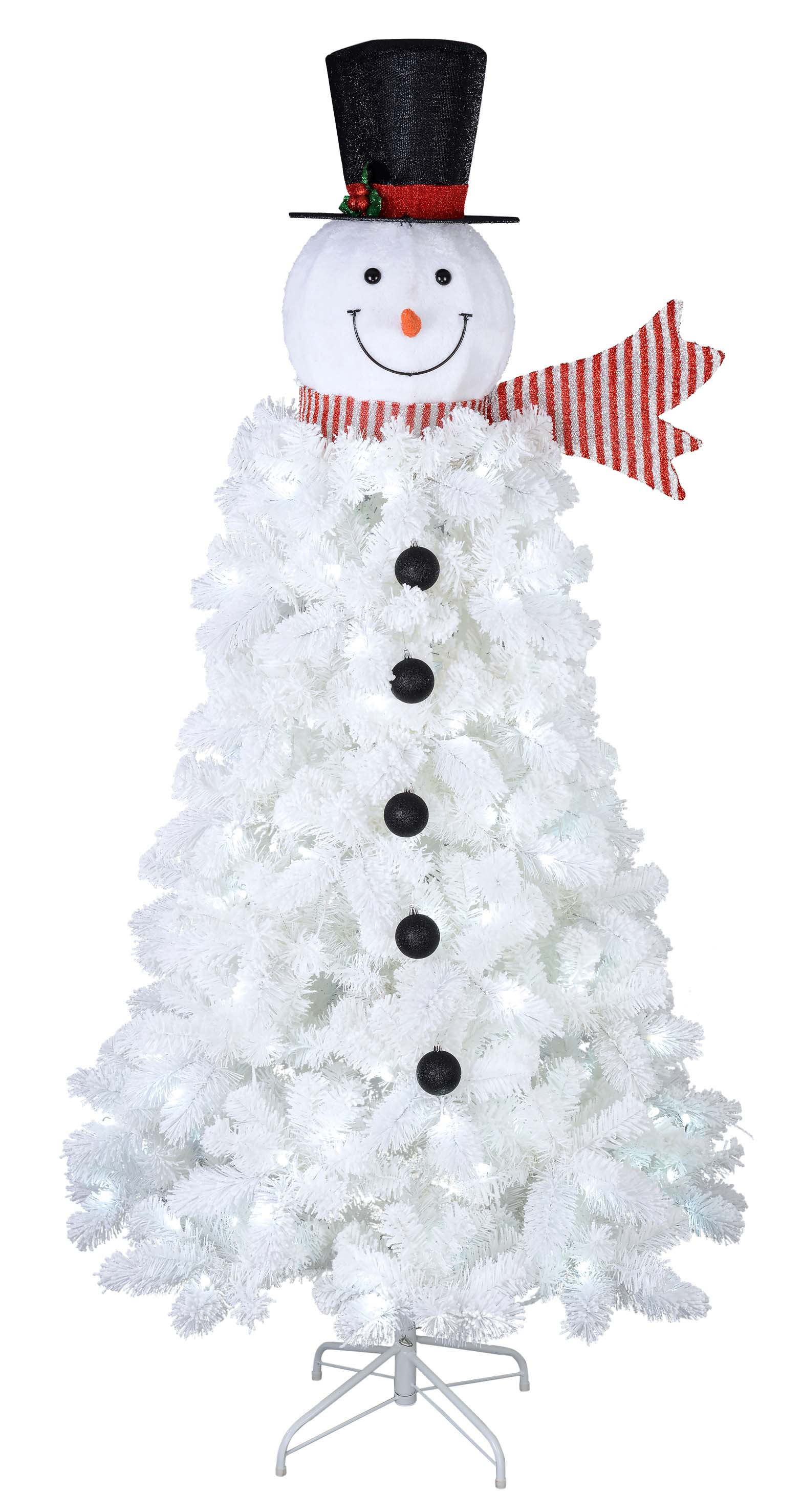 Holiday Time Pre-Lit 6.5 ft. Snowman Christmas Tree - Walmart.com