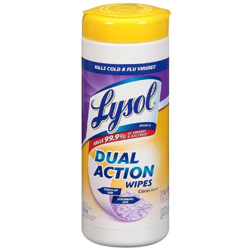 LYSOL Dual Action Disinfecting Wipes, Citrus Scent 35 ea (Pack of 3)