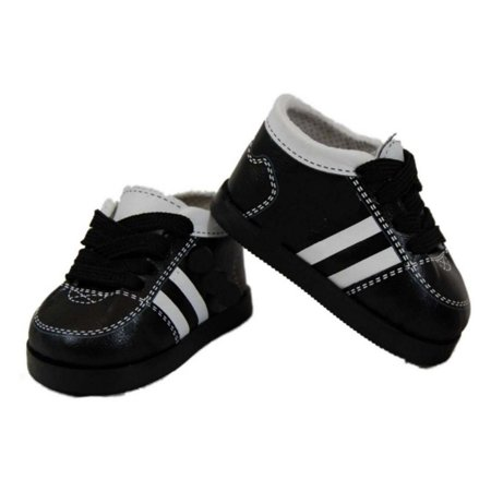 18 Inch Doll Clothes Accessory, Black & White Soccer Shoes & Authentic Shoe Box
