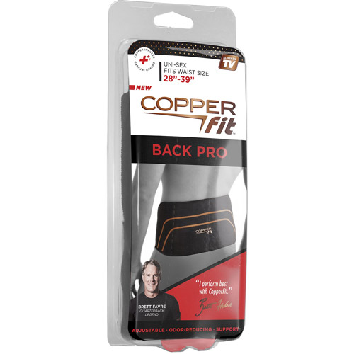 """S//M 28""""-39"""" *NEW* Copper Fit Back Pro With Adjustable Compression Straps"""