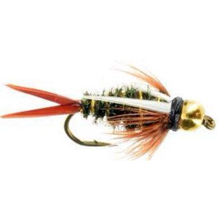 Feeder Creek Fly Fishing Trout Flies - Prince Bead Head Nymph - 12 Flies Size 14 ()