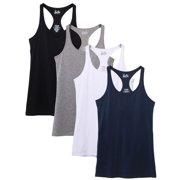 Kalon Women's 4-Pack Racerback Shelf Bra Camisole Base Layer