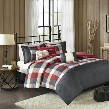 6 Piece Duvet Cover - Home Essence Warren 6 Piece Herringbone Duvet Cover Bedding Set with Decorative Pillows