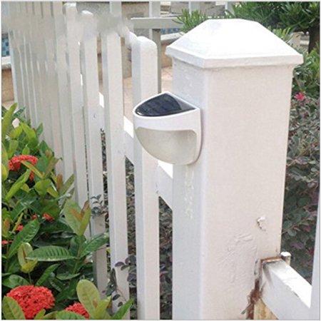 Ktaxon 6-LED Solar Powered Garden Security Light Outdoor Fence Wall Lamp Waterproof - image 5 de 6