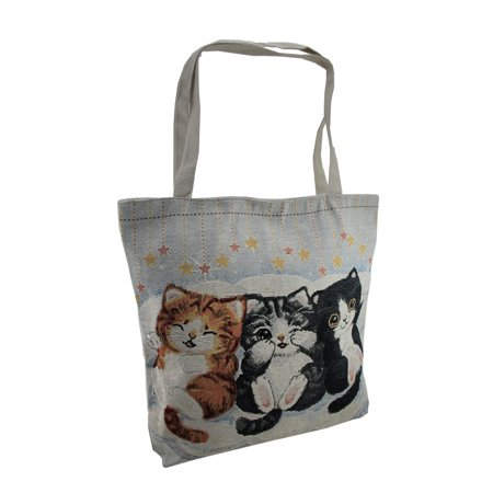 Colorful Peek-a-Boo Kittens Tapestry Tote Bag ()