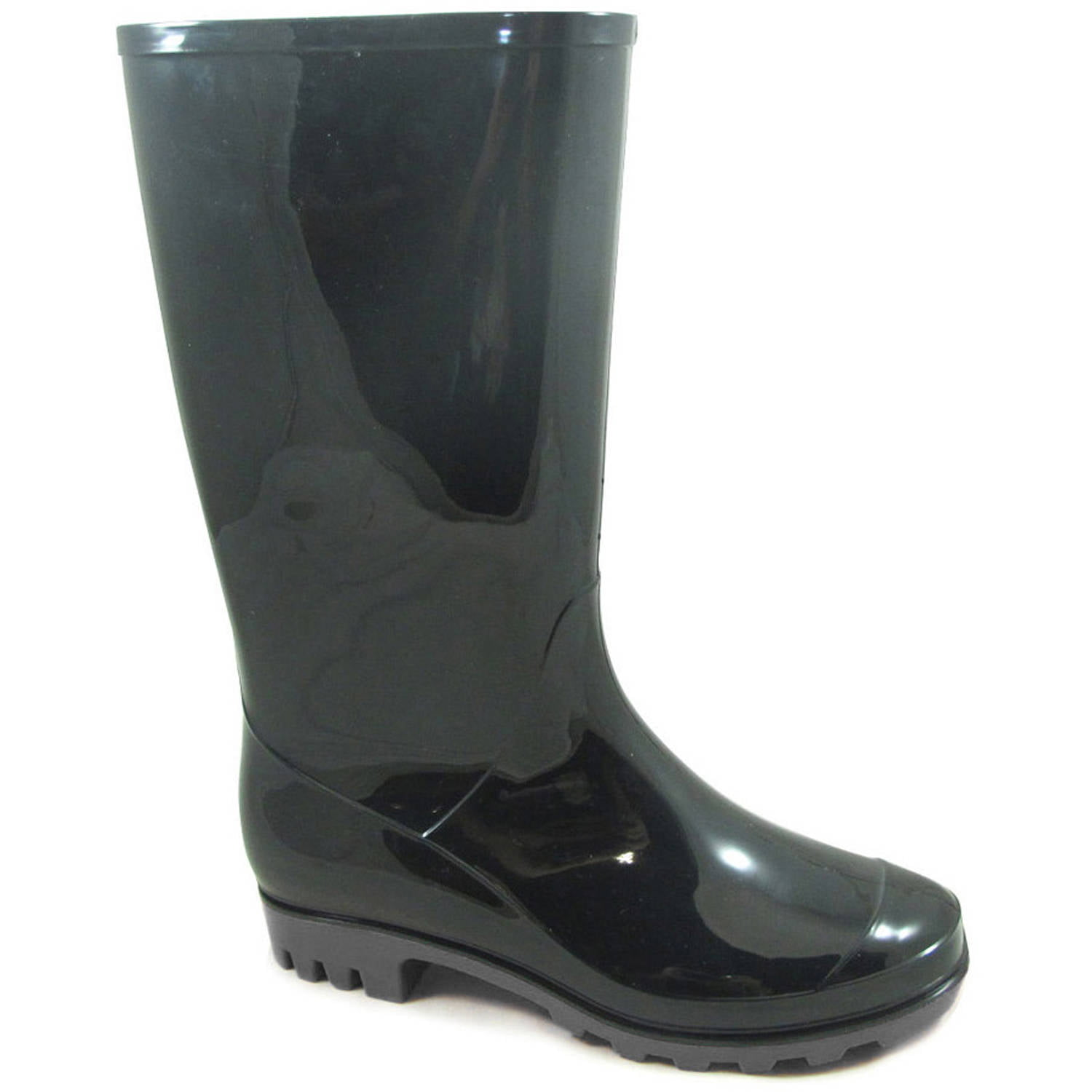 Women's Solid Black PVC Boot - Walmart.com
