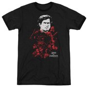 Mgm Army Of Darkness Pile Of Baddies Mens Adult Heather Ringer Shirt