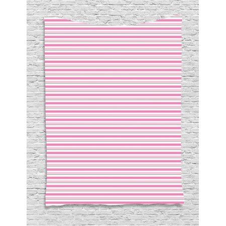 Geometric Tapestry, Pink Toned and Grey Lines on White Backdrop ...