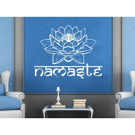 Stickalz Llc Namaste Vinyl Sticker Decals Lotus Flower Yoga Buddha
