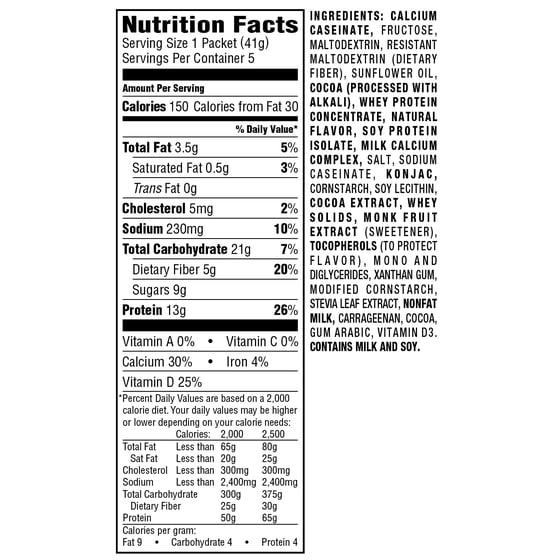 Nutrisystem Nutricrush Chocolate Shake Mix 14 Oz 5 Ct Walmart