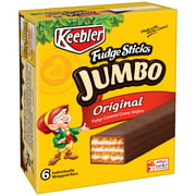 Keebler Fudge Original Jumbo Sticks, 6.6 Oz.