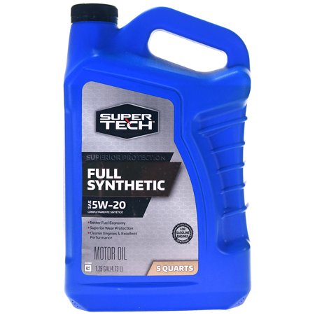 Super Tech Full Synthetic SAE 5W-20 Motor Oil, 5 (5w20 Synthetic Oil)