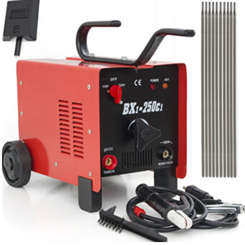 Click here to buy Ktaxon MIG 130 Transformer Welder 110 220V AC Flux Core Wire Automatic Feed Arc Welder Welding Machine with Free Mask,....