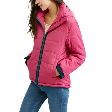 Women's Quilted Puffer Jacket Coat with Detachable Hood