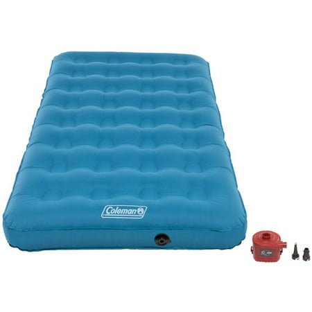 Coleman Durarest Plus Single High Airbed Coleman Durarest Plus Single High Airbed: The Coleman Durarest Plus Single High Airbed features a soft touch, laminated polyester surface for comfort that lasts night after night4D pump is included for fast and easy inflate47% more puncture resistant, 25% stronger and up to 45% lighter than standard Coleman airbedsDouble lock valve keeps the air in where you want it to beInflatable air mattress fits standard-size sheets