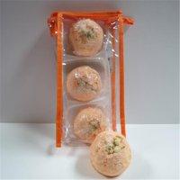 Dead Sea Spa Care DeadSea-BBTGP01 Georgia Peach Bubble Bath Truffles - Pack of 3