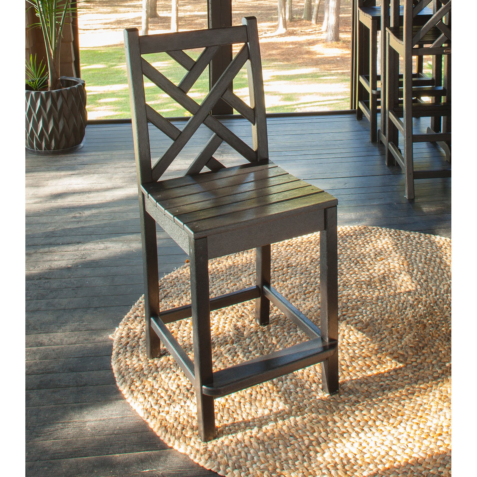 POLYWOOD® Chippendale Counter Height Side Chair