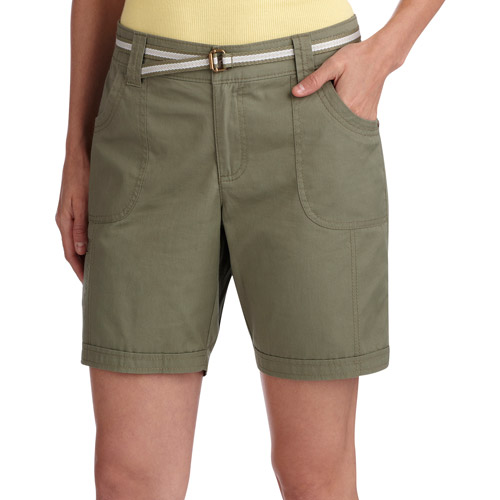 "BRAND NEW  LADY/'S /""WHITE STAG  DEMIN BLUE CARGO POCKET SHORTS with REAR POCKETS"
