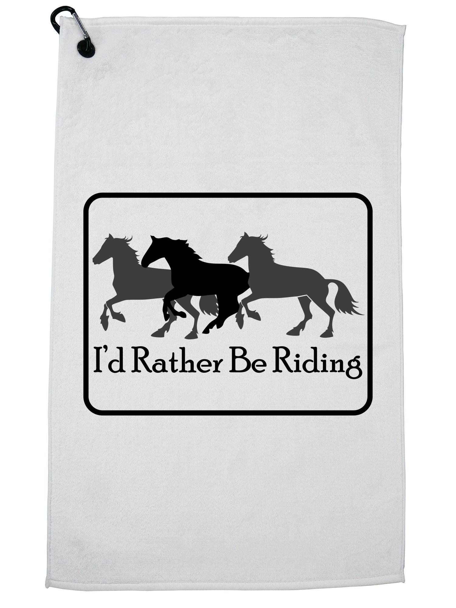I/'d rather be HARNESS RACING horse License Plate Frame