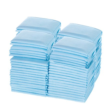 - Absorbent XL puppy potty pads, 23 in x 36 in, 150 count