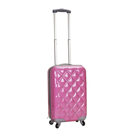 d3b1d24e5 Rockland - PRINCESS 20 Inch POLYCARBONATE CARRY ON - PINK DIAMOND -  Walmart.com