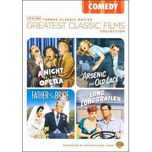 TCM Greatest Classic Films Collection: Comedy - Arsenic And Old Lace / A Night At The Opera / The Long, Long Trailer / Father Of The Bride (Full Frame)