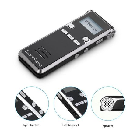 Digital Voice Recorder,8GB Voice Activated Recorder for Lectures/Meetings/Class, Stereo Audio Recording Device with Dual Microphone, Supports TF Card Expansion