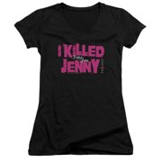 The L Word I Killed Jenny Juniors V-Neck Shirt