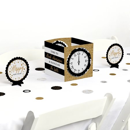 New Year's Eve - Gold - Party Centerpiece & Table Decoration Kit - New Year Party Decorations
